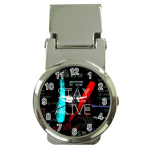 Twenty One Pilots Stay Alive Song Lyrics Quotes Money Clip Watches