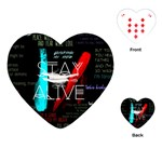 Twenty One Pilots Stay Alive Song Lyrics Quotes Playing Cards (Heart)  Front