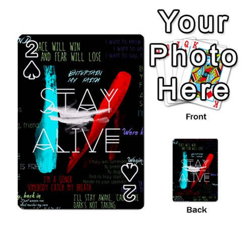 Twenty One Pilots Stay Alive Song Lyrics Quotes Playing Cards 54 Designs