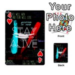 Twenty One Pilots Stay Alive Song Lyrics Quotes Playing Cards 54 Designs  Front - Heart4