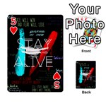 Twenty One Pilots Stay Alive Song Lyrics Quotes Playing Cards 54 Designs  Front - Heart5