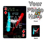 Twenty One Pilots Stay Alive Song Lyrics Quotes Playing Cards 54 Designs  Front - Diamond4