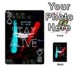 Twenty One Pilots Stay Alive Song Lyrics Quotes Playing Cards 54 Designs  Front - Spade5