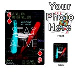 Twenty One Pilots Stay Alive Song Lyrics Quotes Playing Cards 54 Designs  Front - Diamond6