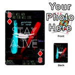 Twenty One Pilots Stay Alive Song Lyrics Quotes Playing Cards 54 Designs  Front - Diamond8