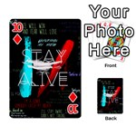 Twenty One Pilots Stay Alive Song Lyrics Quotes Playing Cards 54 Designs  Front - Diamond10