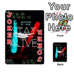 Twenty One Pilots Stay Alive Song Lyrics Quotes Playing Cards 54 Designs  Front - Joker2