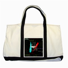 Twenty One Pilots Stay Alive Song Lyrics Quotes Two Tone Tote Bag