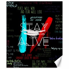 Twenty One Pilots Stay Alive Song Lyrics Quotes Canvas 8  x 10