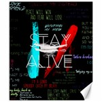 Twenty One Pilots Stay Alive Song Lyrics Quotes Canvas 8  x 10  10.02 x8 Canvas - 1