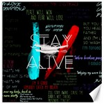 Twenty One Pilots Stay Alive Song Lyrics Quotes Canvas 12  x 12   12 x12 Canvas - 1