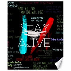 Twenty One Pilots Stay Alive Song Lyrics Quotes Canvas 16  x 20