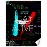 Twenty One Pilots Stay Alive Song Lyrics Quotes Canvas 18  x 24   24 x18 Canvas - 1