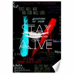 Twenty One Pilots Stay Alive Song Lyrics Quotes Canvas 20  X 30