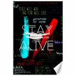 Twenty One Pilots Stay Alive Song Lyrics Quotes Canvas 24  x 36  36 x24 Canvas - 1
