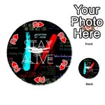 Twenty One Pilots Stay Alive Song Lyrics Quotes Playing Cards 54 (Round)  Front - Heart10