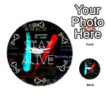 Twenty One Pilots Stay Alive Song Lyrics Quotes Playing Cards 54 (Round)  Front - Club7