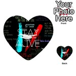 Twenty One Pilots Stay Alive Song Lyrics Quotes Playing Cards 54 (Heart)  Back