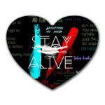Twenty One Pilots Stay Alive Song Lyrics Quotes Heart Mousepads Front