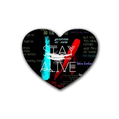 Twenty One Pilots Stay Alive Song Lyrics Quotes Rubber Coaster (heart)