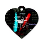 Twenty One Pilots Stay Alive Song Lyrics Quotes Dog Tag Heart (Two Sides) Back