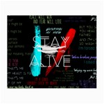 Twenty One Pilots Stay Alive Song Lyrics Quotes Small Glasses Cloth (2-Side) Front