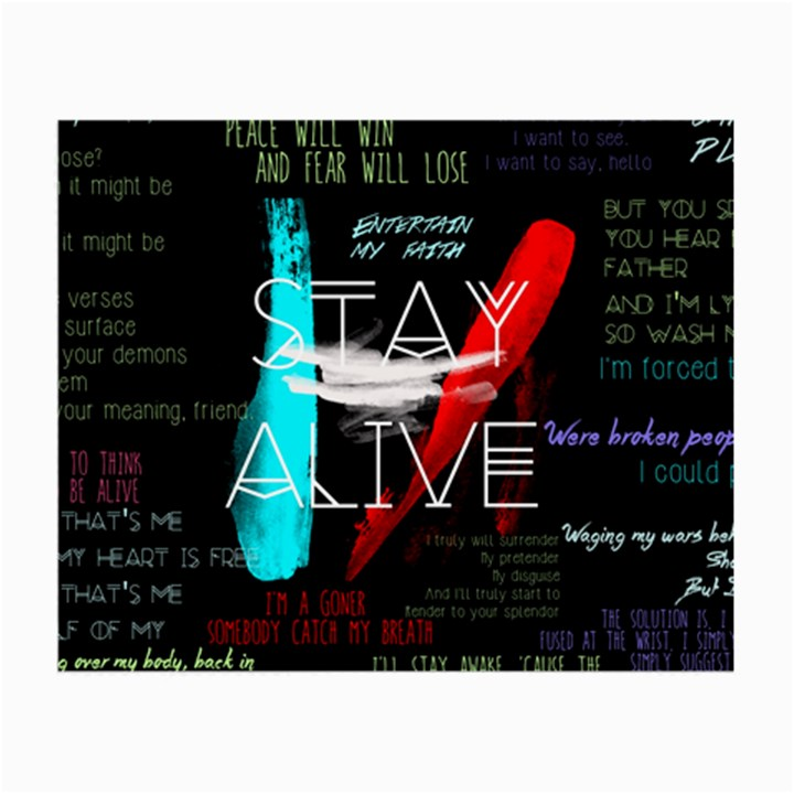 Twenty One Pilots Stay Alive Song Lyrics Quotes Small Glasses Cloth (2-Side)