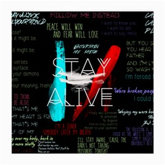 Twenty One Pilots Stay Alive Song Lyrics Quotes Medium Glasses Cloth (2-Side)