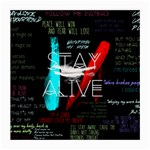 Twenty One Pilots Stay Alive Song Lyrics Quotes Medium Glasses Cloth (2-Side) Back