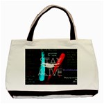 Twenty One Pilots Stay Alive Song Lyrics Quotes Basic Tote Bag (Two Sides) Back