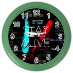 Twenty One Pilots Stay Alive Song Lyrics Quotes Color Wall Clocks Front
