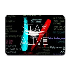 Twenty One Pilots Stay Alive Song Lyrics Quotes Small Doormat