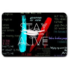 Twenty One Pilots Stay Alive Song Lyrics Quotes Large Doormat
