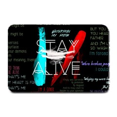 Twenty One Pilots Stay Alive Song Lyrics Quotes Plate Mats