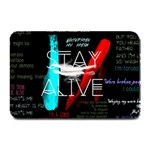 Twenty One Pilots Stay Alive Song Lyrics Quotes Plate Mats 18 x12 Plate Mat - 1