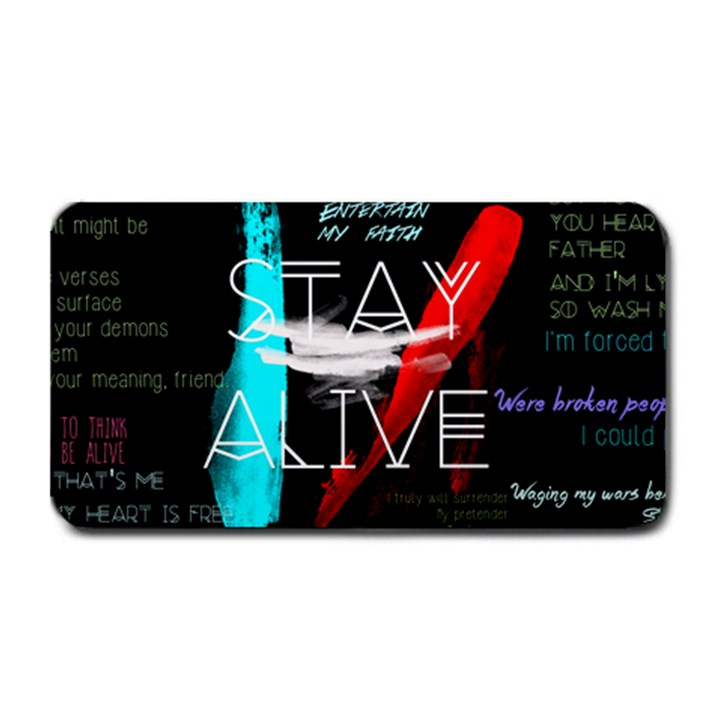 Twenty One Pilots Stay Alive Song Lyrics Quotes Medium Bar Mats