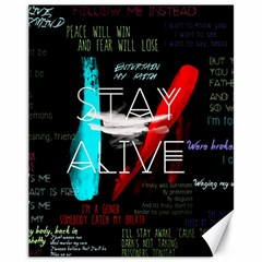 Twenty One Pilots Stay Alive Song Lyrics Quotes Canvas 11  x 14