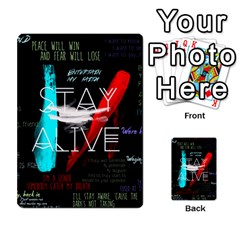 Twenty One Pilots Stay Alive Song Lyrics Quotes Multi-purpose Cards (Rectangle)