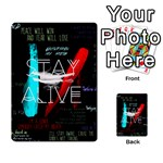 Twenty One Pilots Stay Alive Song Lyrics Quotes Multi-purpose Cards (Rectangle)  Back 21