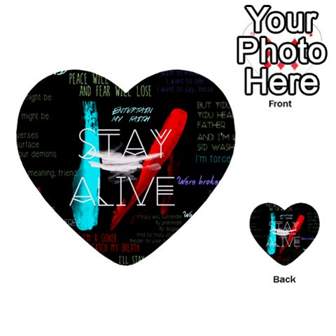 Twenty One Pilots Stay Alive Song Lyrics Quotes Multi-purpose Cards (Heart)
