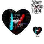 Twenty One Pilots Stay Alive Song Lyrics Quotes Multi-purpose Cards (Heart)  Back 20