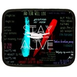 Twenty One Pilots Stay Alive Song Lyrics Quotes Netbook Case (Large) Front