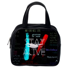 Twenty One Pilots Stay Alive Song Lyrics Quotes Classic Handbags (One Side)