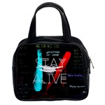 Twenty One Pilots Stay Alive Song Lyrics Quotes Classic Handbags (2 Sides) Front