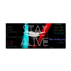 Twenty One Pilots Stay Alive Song Lyrics Quotes Hand Towel