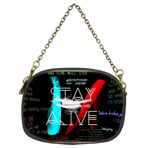 Twenty One Pilots Stay Alive Song Lyrics Quotes Chain Purses (One Side)
