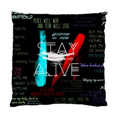 Twenty One Pilots Stay Alive Song Lyrics Quotes Standard Cushion Case (two Sides)