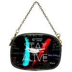 Twenty One Pilots Stay Alive Song Lyrics Quotes Chain Purses (Two Sides)  Back