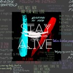 Twenty One Pilots Stay Alive Song Lyrics Quotes Mini Canvas 4  x 4  4  x 4  x 0.875  Stretched Canvas