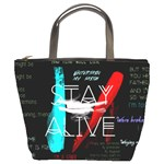 Twenty One Pilots Stay Alive Song Lyrics Quotes Bucket Bags Front